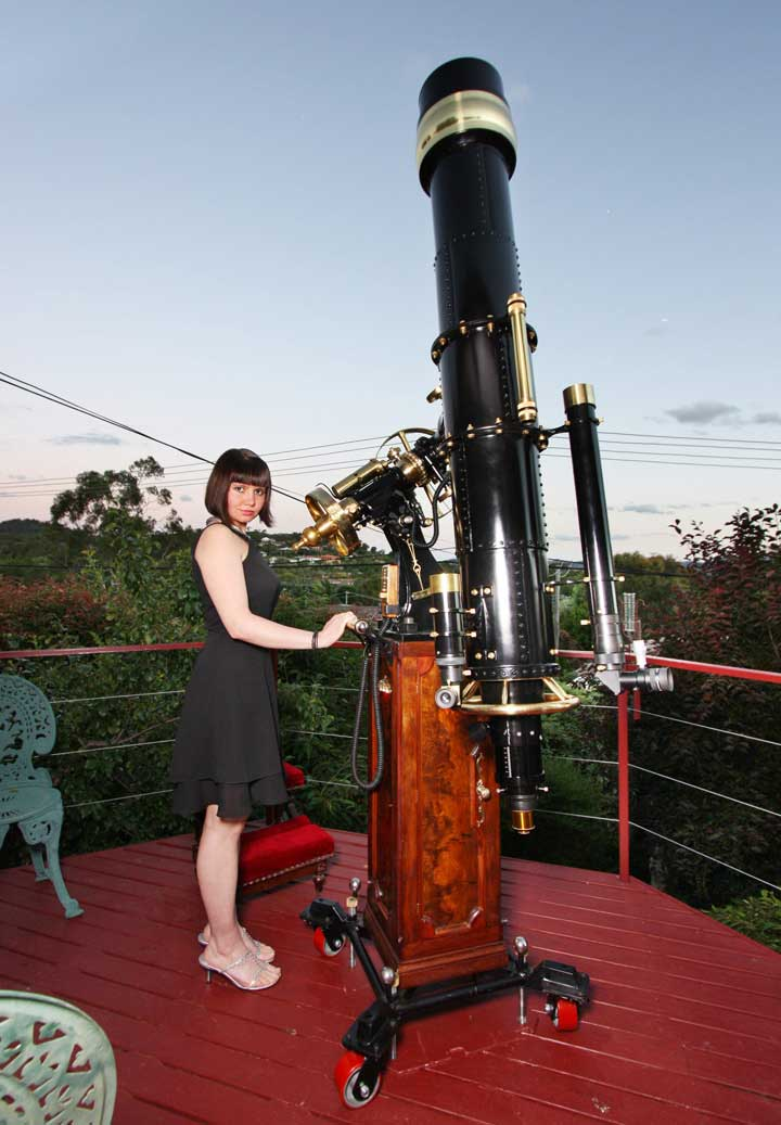 steampunk telescope the great wetherell refractor