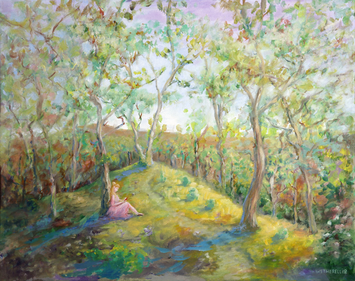 Summer in Horner wood in the style of Renoir painting