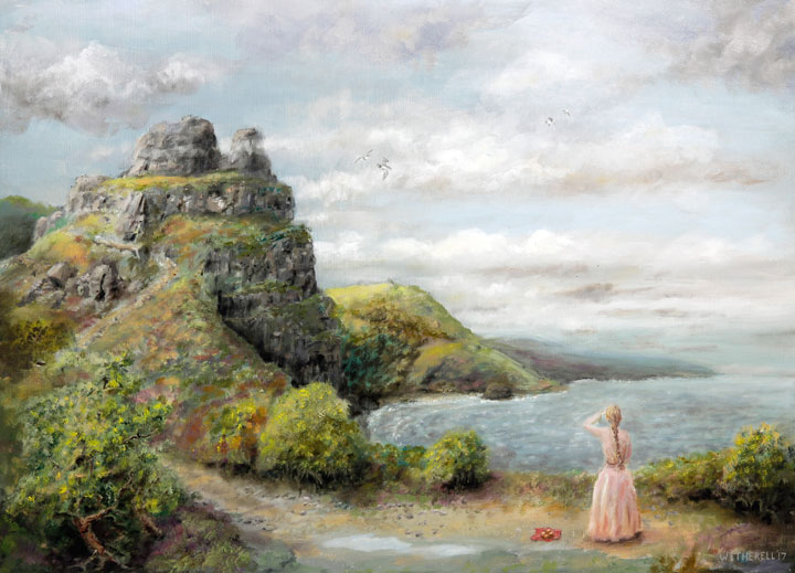 painting of Valley of Rocks by Tim Wetherell